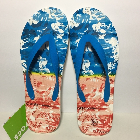 e7dd46af9c89 Crocs Men s Tropical Flip Flops 13 Relaxed Fit
